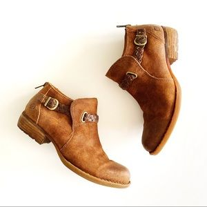 Born | Braided Suede Leather Ankle Boots 8
